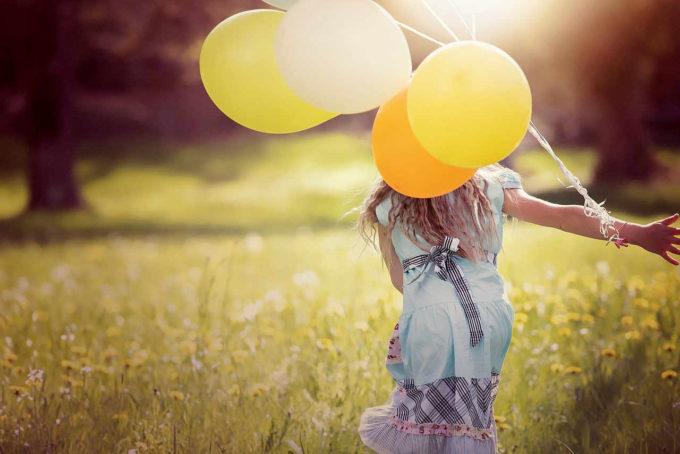 dziewczyna i balony